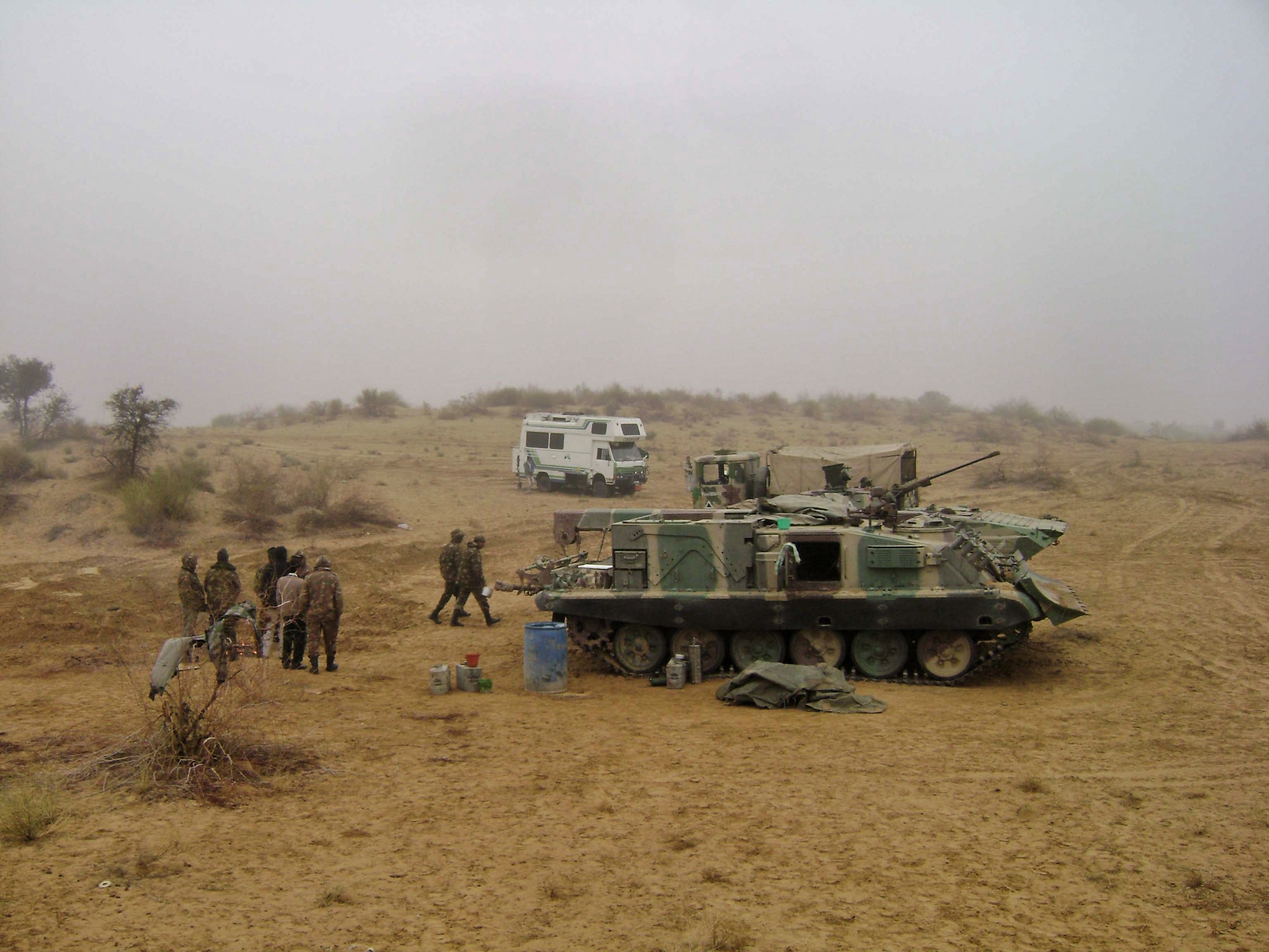 middle of desert in ganganagar army camp